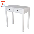 wood modern organizer dressing table with mirror for bedroom