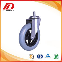 Goods high definition for Screw Stem Pu Caster 6'' thread stem pu caster wheels export to Bermuda Suppliers