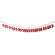 Christmas santa stocking bunting banner
