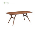 Madilim na Walnut Home Wood Dining Table