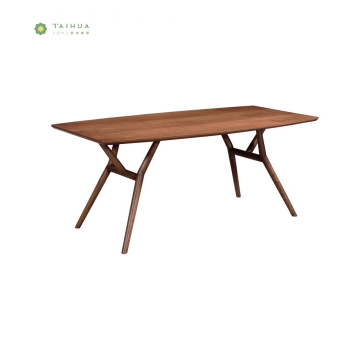 Dark Walnut Home Wood Dining Table