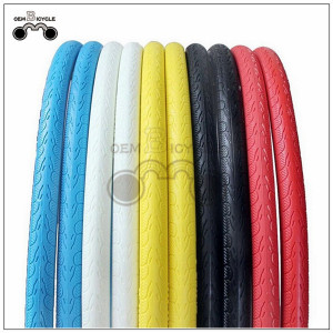 700Cx23C Colored Fixed Gear Bike Solid Tire