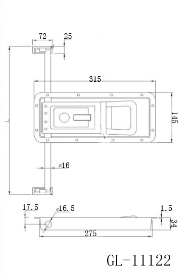 Recessed Trailer Door Locking Latch
