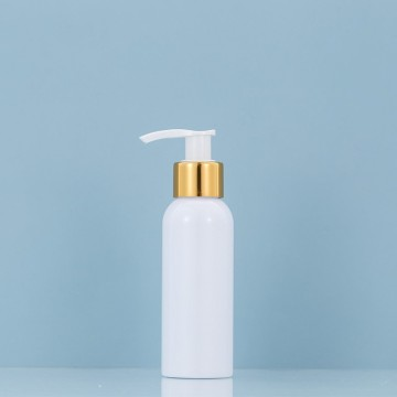 120ML Gold Circle white lotion pump bottle