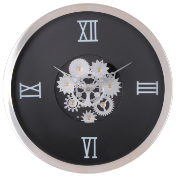 Wholesale Price for China Decorative Wall Clocks,Luminous Wall Clock,Wall Light Decoration Manufacturer and Supplier Wall Clock with Moving Gears for Wall Decor supply to Turkey Supplier