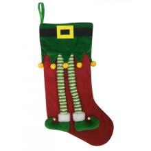 Europe style for Christmas Stocking Christmas magic elf stocking for kids export to Armenia Manufacturer