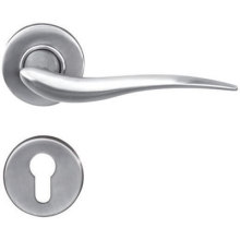 Ordinary Discount Best price for Solid Door Handle On Rosettes Practical Solid Door Handle supply to Armenia Supplier