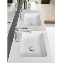 OEM/ODM for Supply Embedded Washbasin,Undercounter Washbasin,Undercounter Kitchen Washbasin,Corner Embedded Washbasin to Your Requirements Double Basin New Acrylic Rectangular Washbasin export to Palestine Supplier