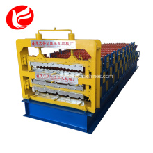 Three layers galvanized color steel roll forming machine