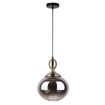 Hand blown glass pendant lights retro industrial lamp