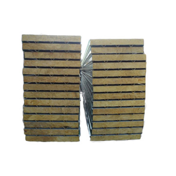 low cost construction materials iron rockwool sandwich panel