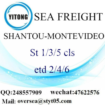Shantou Port LCL Consolidation To Montevideo