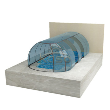 Glass Push Type Sliding Swimming Pool Cover