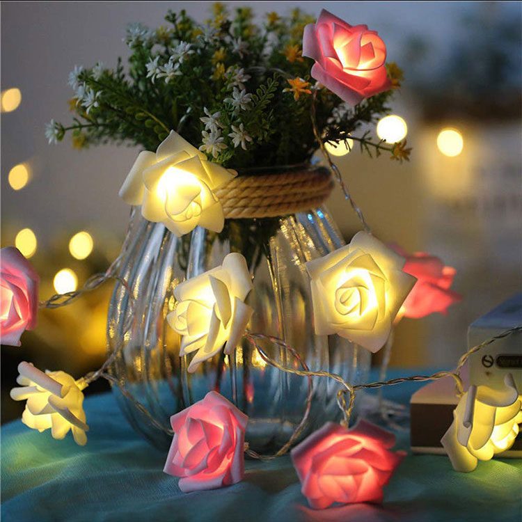 rose flower led festival light