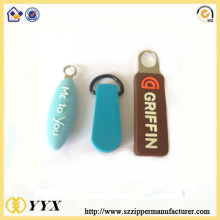 Soft pvc customized shape rubber zip puller