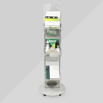 Self Standing Acrylic Magazine Display Rack