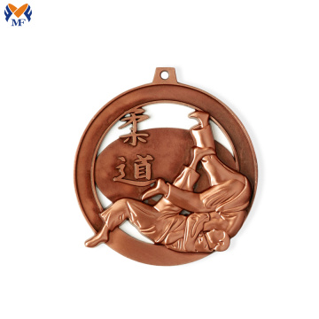 Bronze metal judo medals for sale