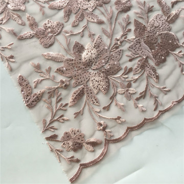 2019 Bridal Wedding Guest Flower Embroidery Fabric