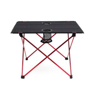 Lightweight Folding Table with Cup Holders