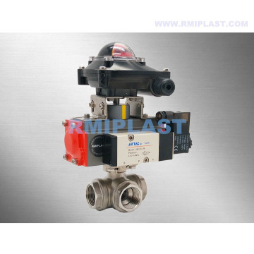 Three Way Ball Valve Pneumatic Double Acting Single Acting