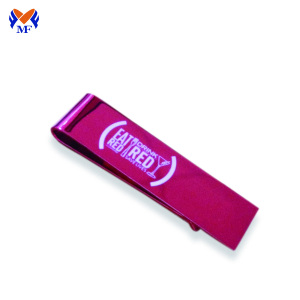 Fancy double sided printed logo money clip