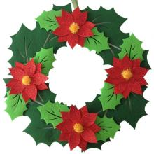 China for White Christmas Garland Christmas fresh flower hanging wall decorations export to India Manufacturers