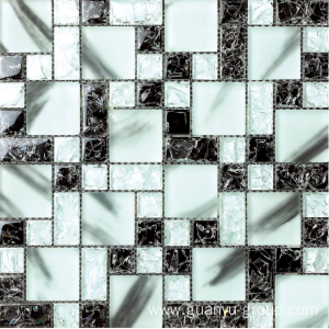 Crystal ice cracked glass mosaic