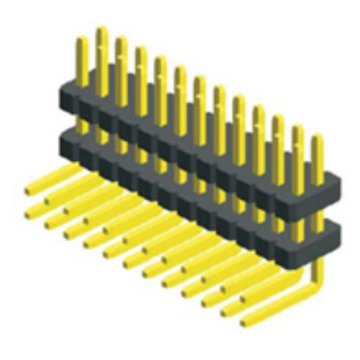 1.27X2.54mm Pitch Dual Row Double Plastic Angle Type