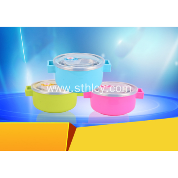 304 Stainless Steel Food Container Double Handle