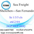 Shenzhen Port Sea Freight Shipping To San Fernando