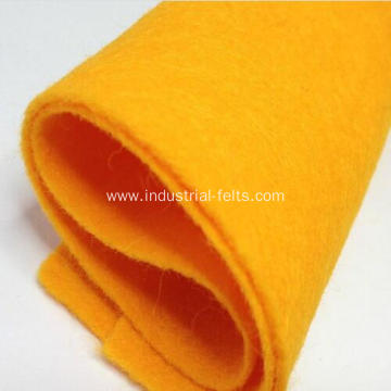 Different color mixed nonwoven polyester felt
