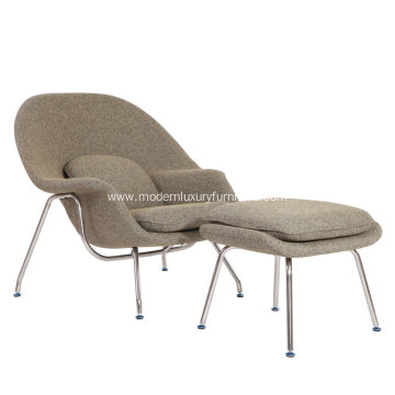 Saarinen Womb Chair & Ottoman in Cashmere Wool