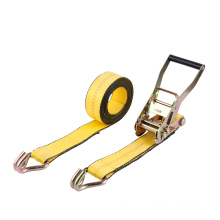 "2"" Ratchet Buckle Lashing Strap with Swan Hooks"