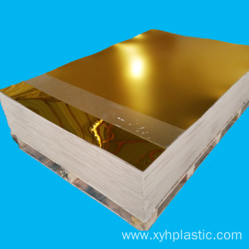 China for Clear Acrylic Sheet Golden Silver Mirror Acrylic Board 2mm 3mm Thickness supply to Spain Factories
