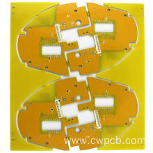 Irregular size yellow solder mask PCB