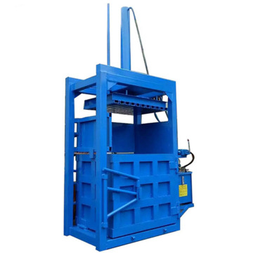 Vertical hydraulic wheat straw baling press machine
