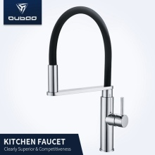 Single Handle Brass Kitchen Faucet With Pull-Out Sprayer