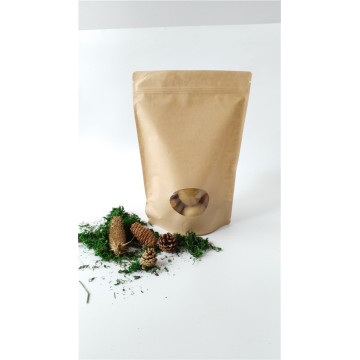 Paper PET Stand Up Pouch With Window