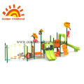 Orange Backyard Outdoor Playground Equipment