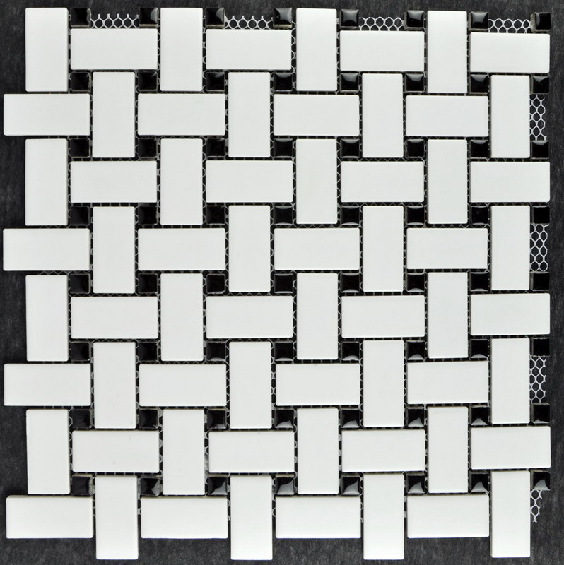 White Weaving Design Porcelain Mosaic