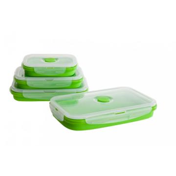 BPA Free Silicone leak proof Microwavable Lunch Box