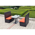 DS-(189) white rattan outdoor furniture dining set/ white cube set table outdoor dining set