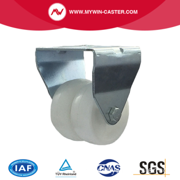 2 Inch Plate Rigid PP Material Small Twin Caster
