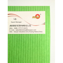 Corrugated oil filter paper