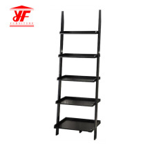 Customized for Wooden Bookcase,Solid Wood Bookcases,Small Bookcase Manufacturers and Suppliers in China Black Modern 5 Ladder Bookcase Wood Shelf supply to Poland Supplier