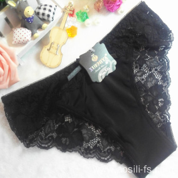 China wholesale cheap black sexy girl little flowers lace bikini swimming cloth fancy underwear 9871