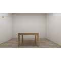 Light Grey Walnut Rectangular Dining Table Melamine