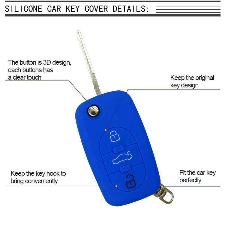 Audi Silicone Car Key Fob Cover