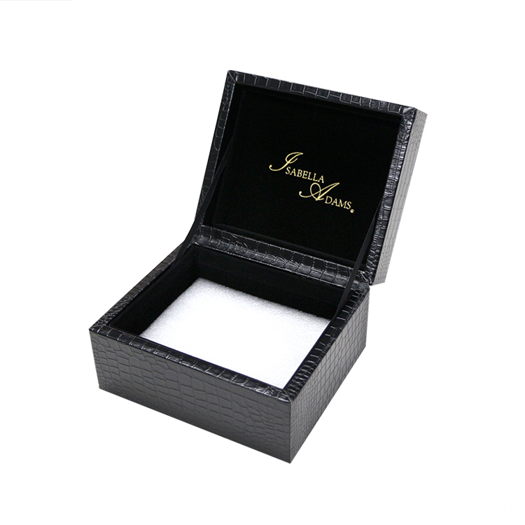 Custom Logo PU leather Wedding Ring Jewelry Box