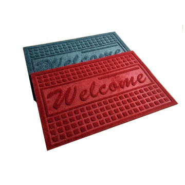 Velour embossed pvc backing non-slip mat